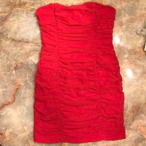 Red Ruched H&M Dress
